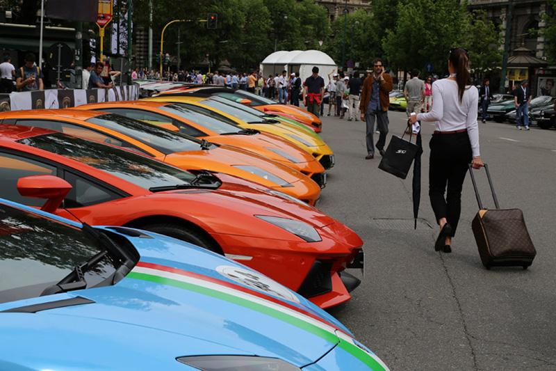 Image of Lamborghini Celebrates its 50th Anniversary with the Grande Girdo d'Italia