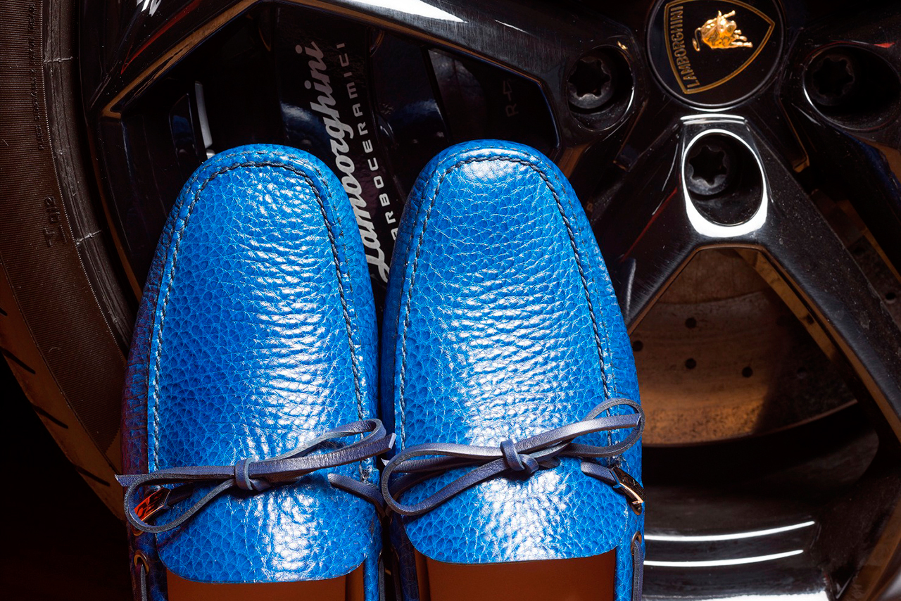 Image of Car Shoe for Lamborghini 50th Anniversary Moccasin Collection