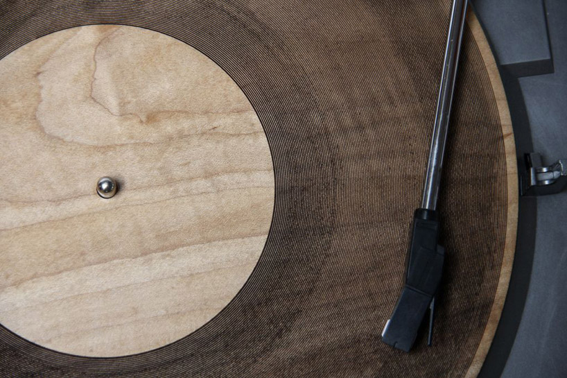 Image of Laser-Cut Wooden Records by Amanda Ghassaei