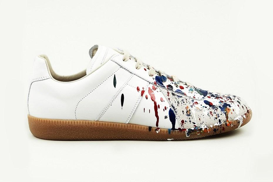 Image of Maison Martin Margiela 2013 Pre-Fall Hand Painted Colour Drop Replica Sneaker
