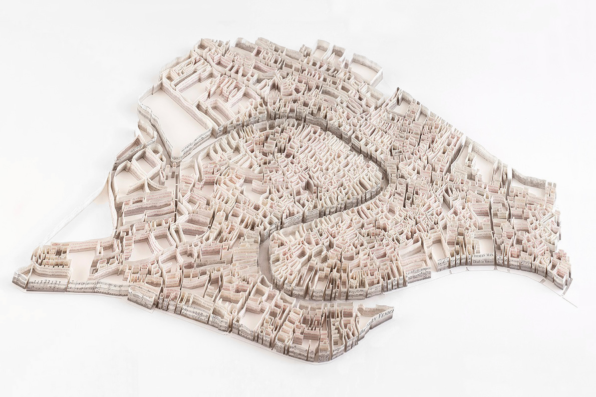 Image of Matthew Picton's Paper Sculptures Illustrate World Cities