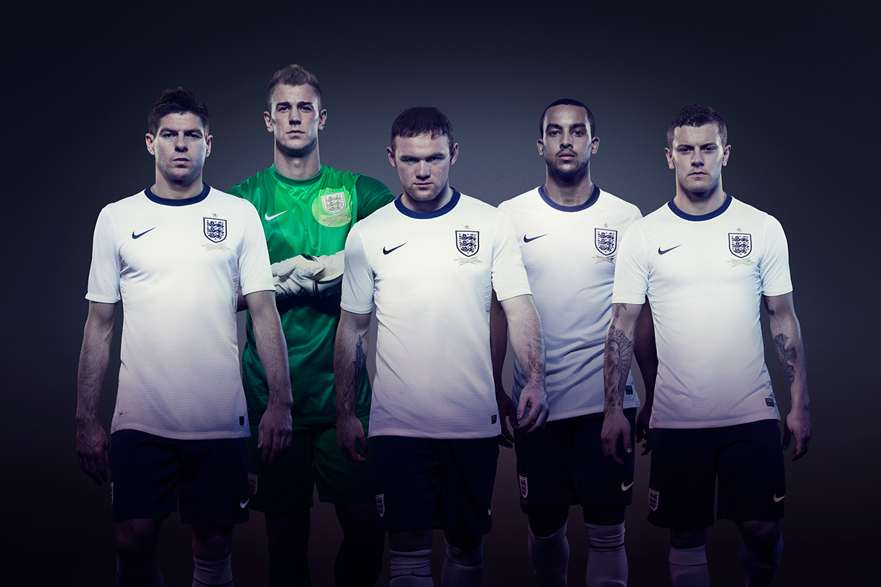 Image of Nike Unveils the 2013 England Home Kit