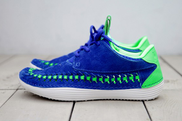 Image of Nike 2013 Summer Solarsoft Mocassin Premium Woven Hyper Blue/Poison Green