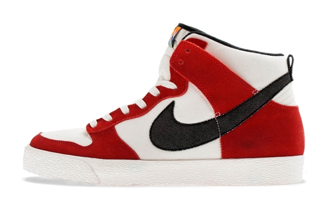 Image of Nike Dunk High AC Sail/University Red