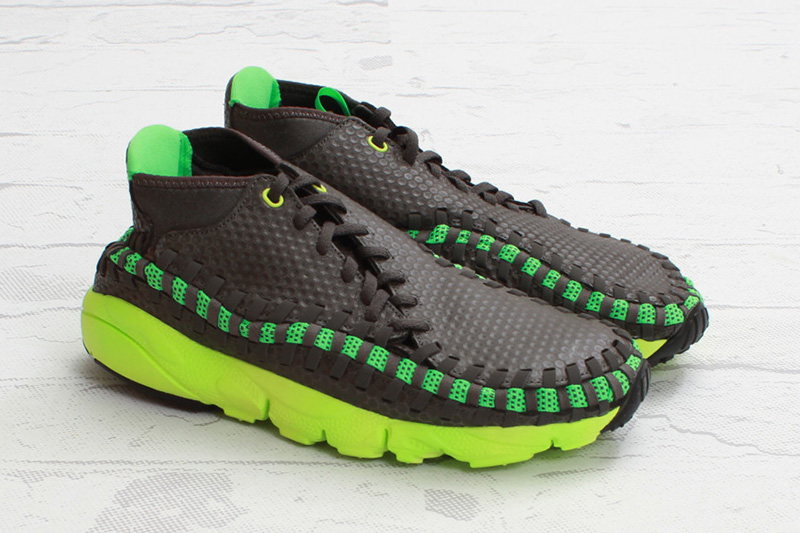 Image of Nike Air Footscape Woven Chukka Midnight Fog/Poison Green