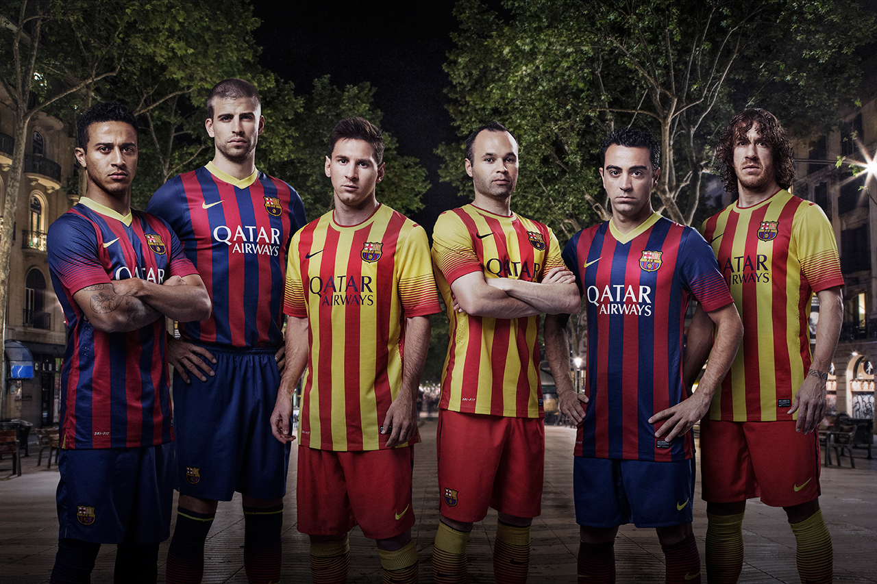Image of Nike Unveils New FC Barcelona Home and Away Kits