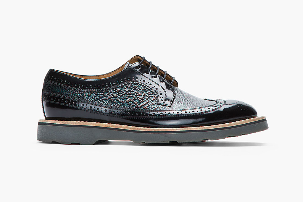 Image of Paul Smith Pebbled Leather Brogues