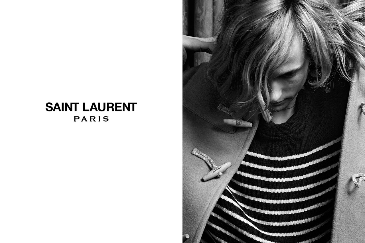 Image of Saint Laurent 2013 Fall/Winter Campaign Part 1 featuring Cara Delevingne & Cole Smith