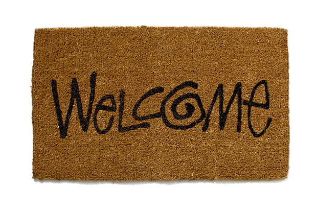 "Image of Stussy Livin' General Store ""Welcome"" Large Mat"