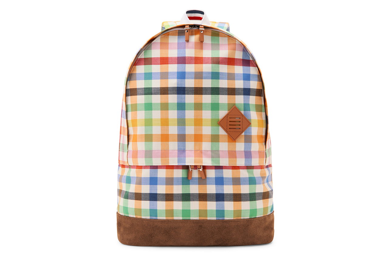 Image of Thom Browne Checkered Backpack