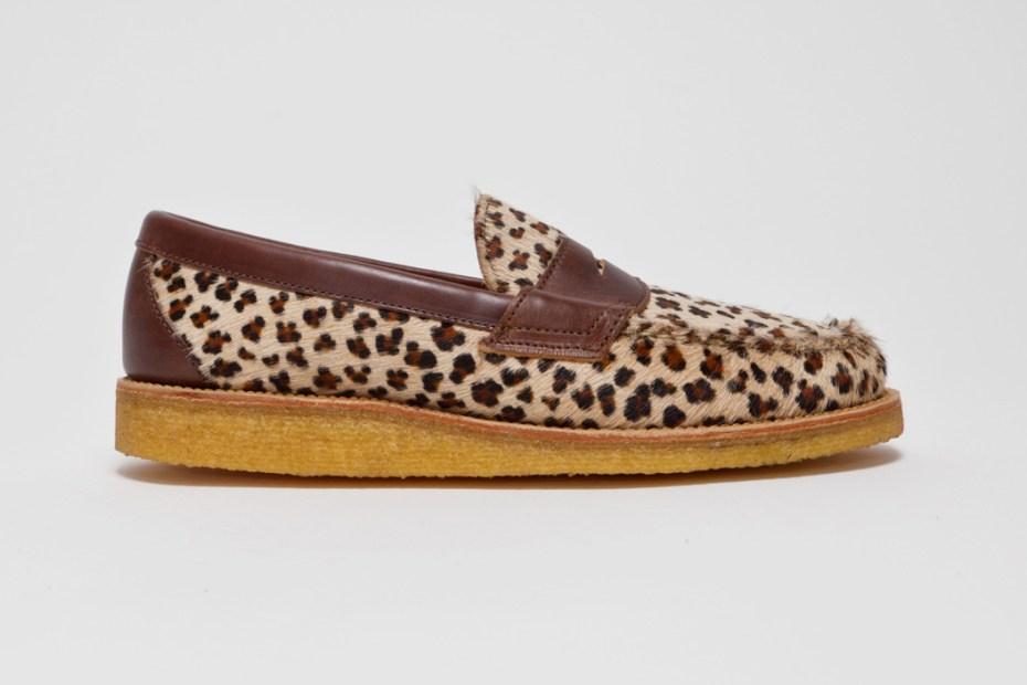 "Image of Yuketen Penny Loafer ""Leopard"""