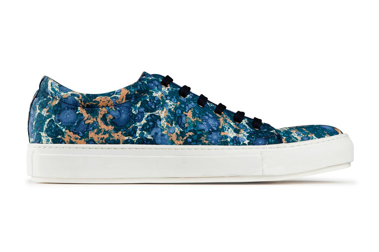 "Image of Acne Studios ""Blue Marble"" Adrian Sneakers"