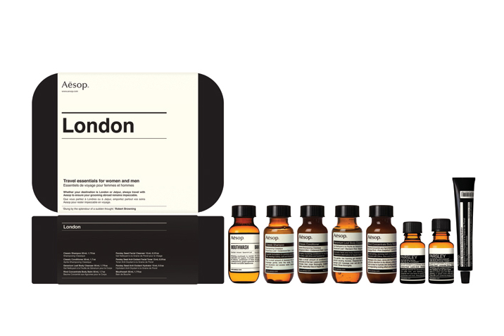 "Image of Aēsop ""Boston"" and ""London"" Travel Kits"