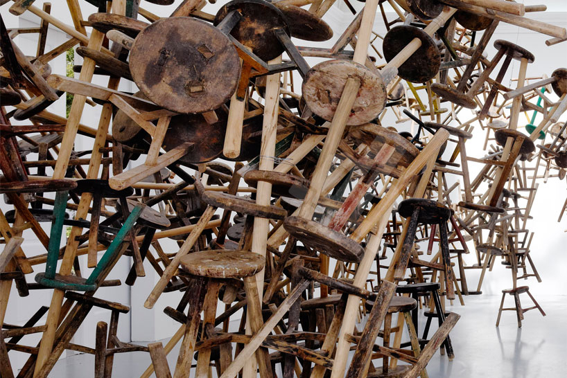 "Image of Ai Wei Wei ""Bang"" Installation at Venice Art Biennale 2013"
