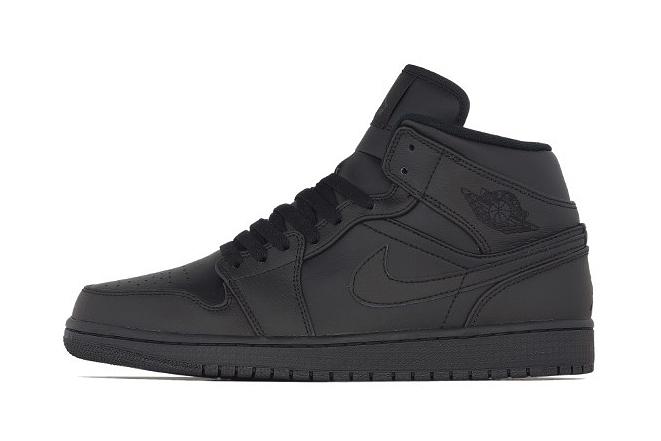 Image of Air Jordan 1 Mid Black/Black