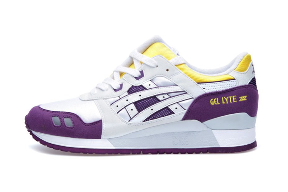 Image of ASICS Gel Lyte III White/Yellow/Purple