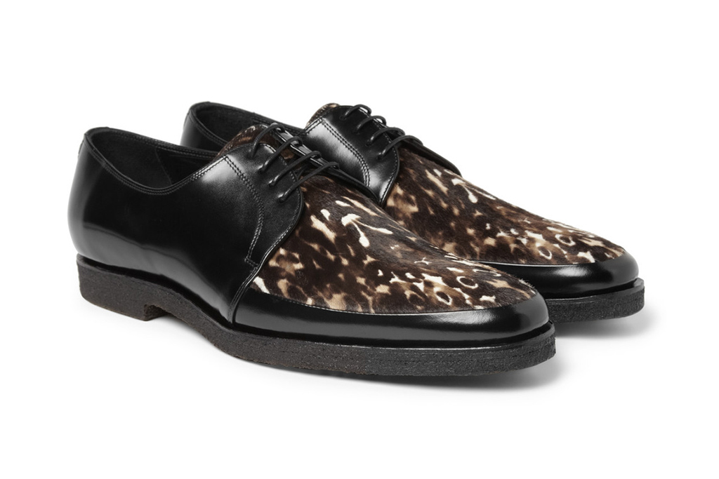 Image of Burberry Prorsum 2013 Fall/Winter Printed Ponyskin and Leather Derby Shoes
