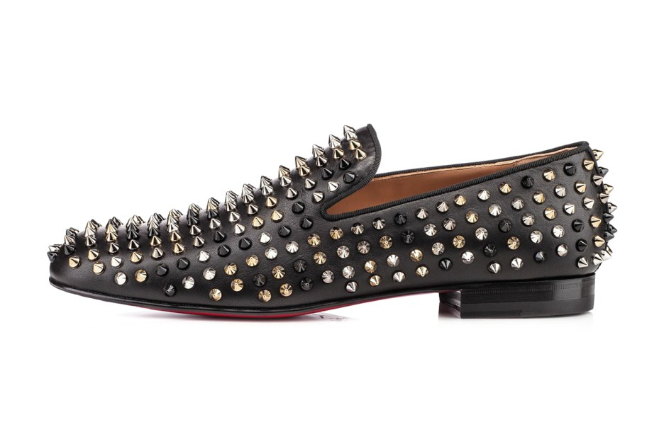 Image of Christian Louboutin Rollerboy Spiked Leather Loafers