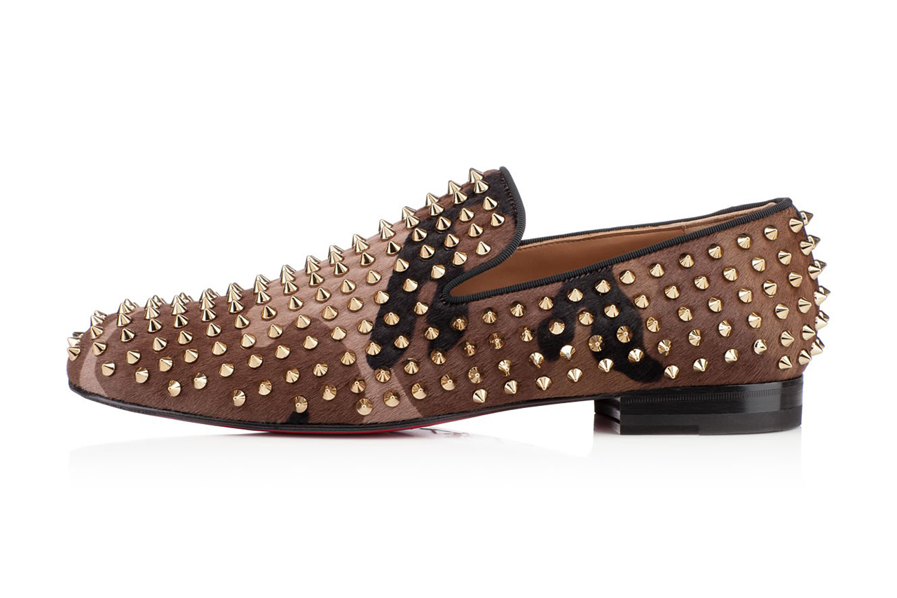 Image of Christian Louboutin Rollerboy Spikes Printed Pony Hair Camo