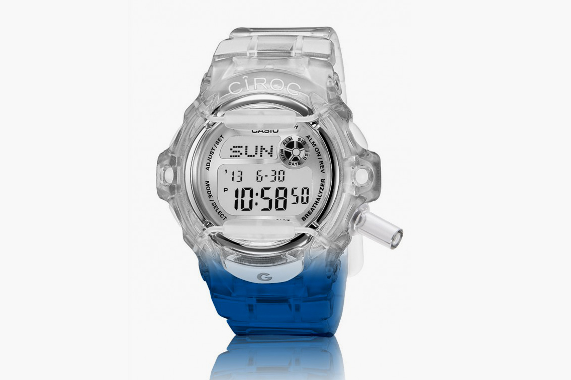 Circo x Casio G-Shock breathalyzer watch, casio g shock