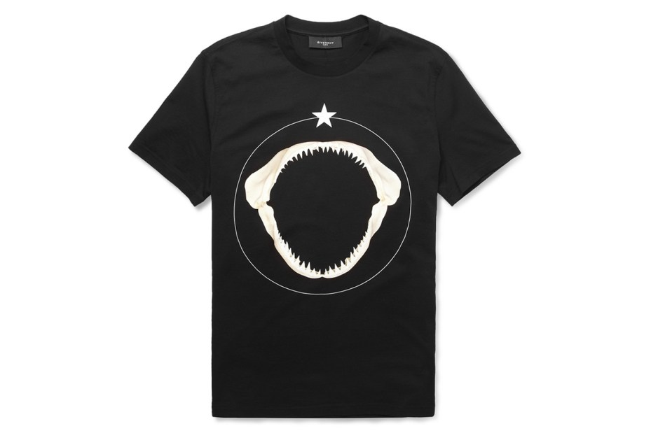 Image of Givenchy 2013 Shark Teeth-Print Cotton T-Shirt