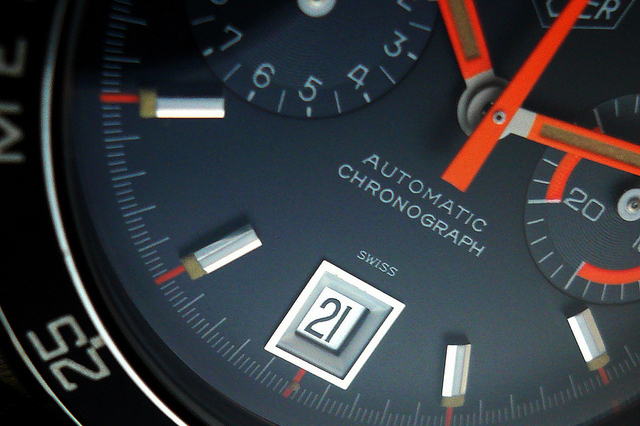 Image of Heuer Autavia 11063 'Alpha Orange Skunkworks' Custom
