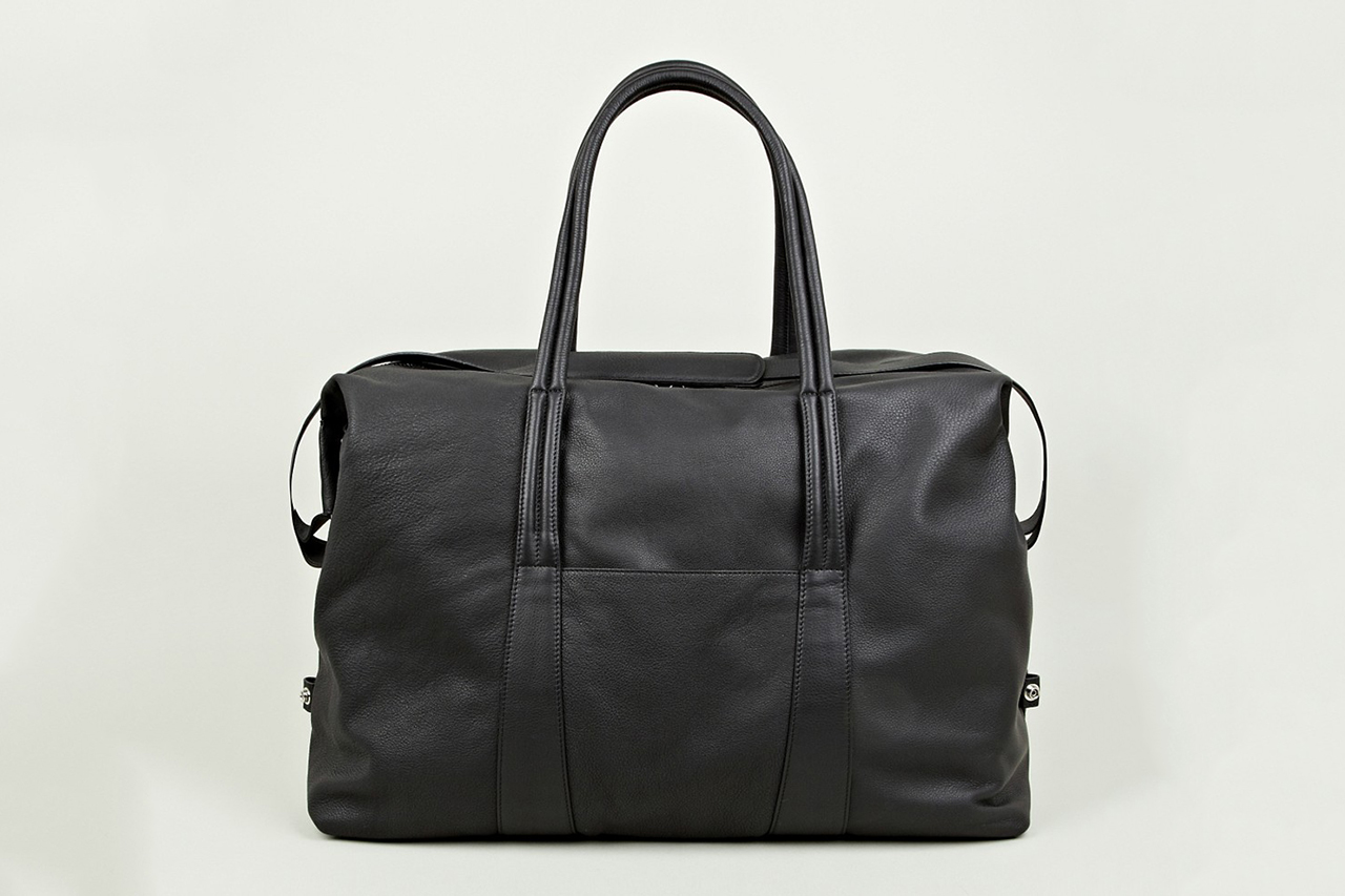 Image of Maison Martin Margiela 2013 Pre-Fall/Winter Black Leather Holdall
