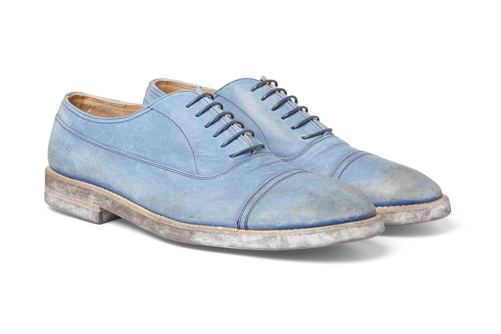 Image of Maison Martin Margiela Washed Leather Oxford Shoes
