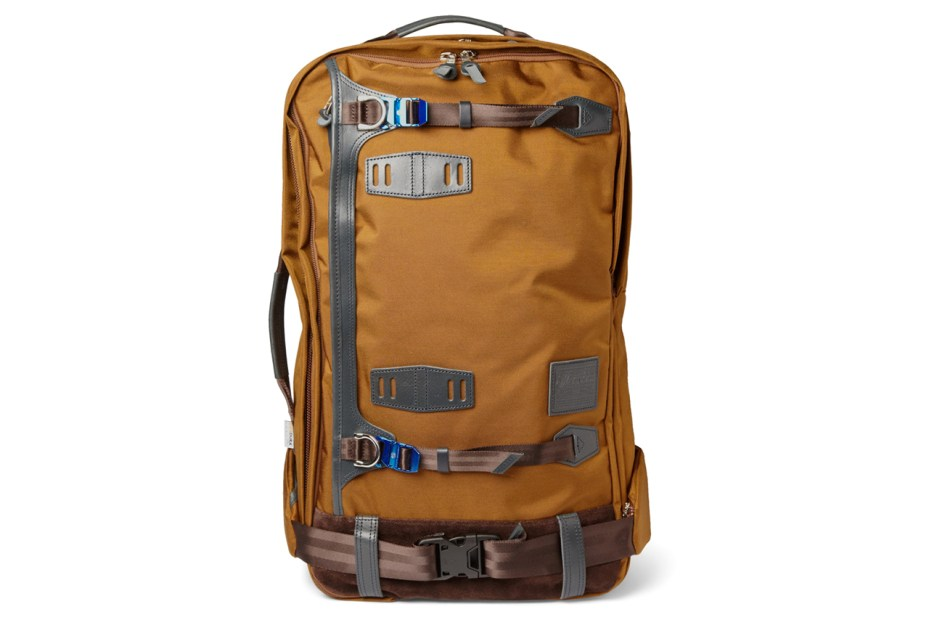 Image of master-piece Potential Leather-Trimmed Cordura Backpack