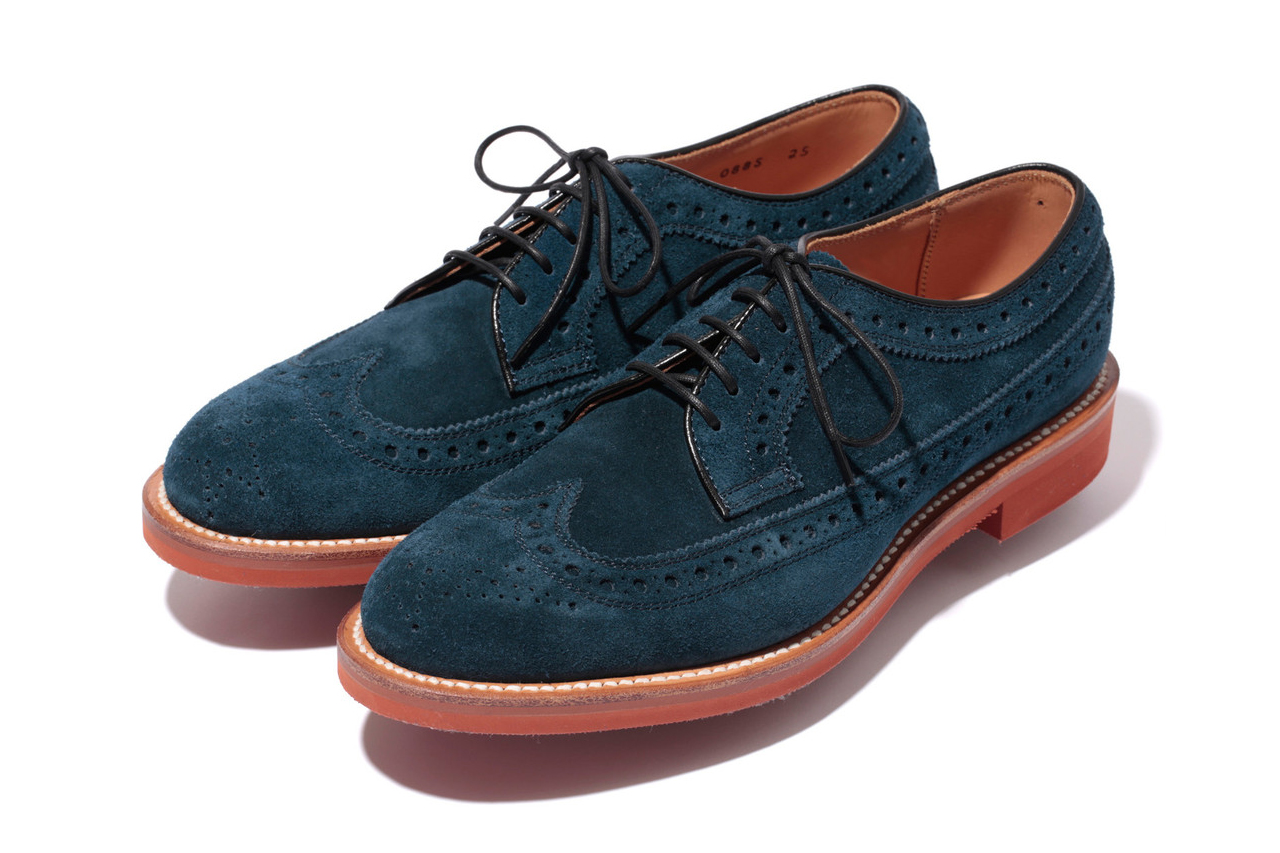 Image of Mr. Bathing Ape x Regal Suede Brick Sole Wingtip