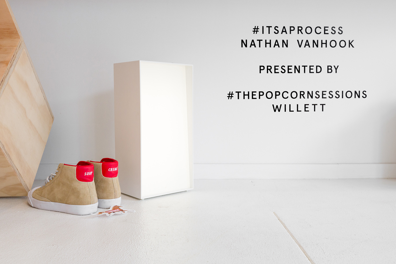 """Image of Nathan VanHook """"#ITSAPROCESS"""" Installation @ Table of Contents"""