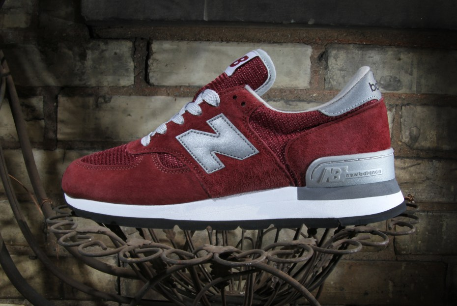 "Image of New Balance 990 ""Made in USA"" Burgundy"