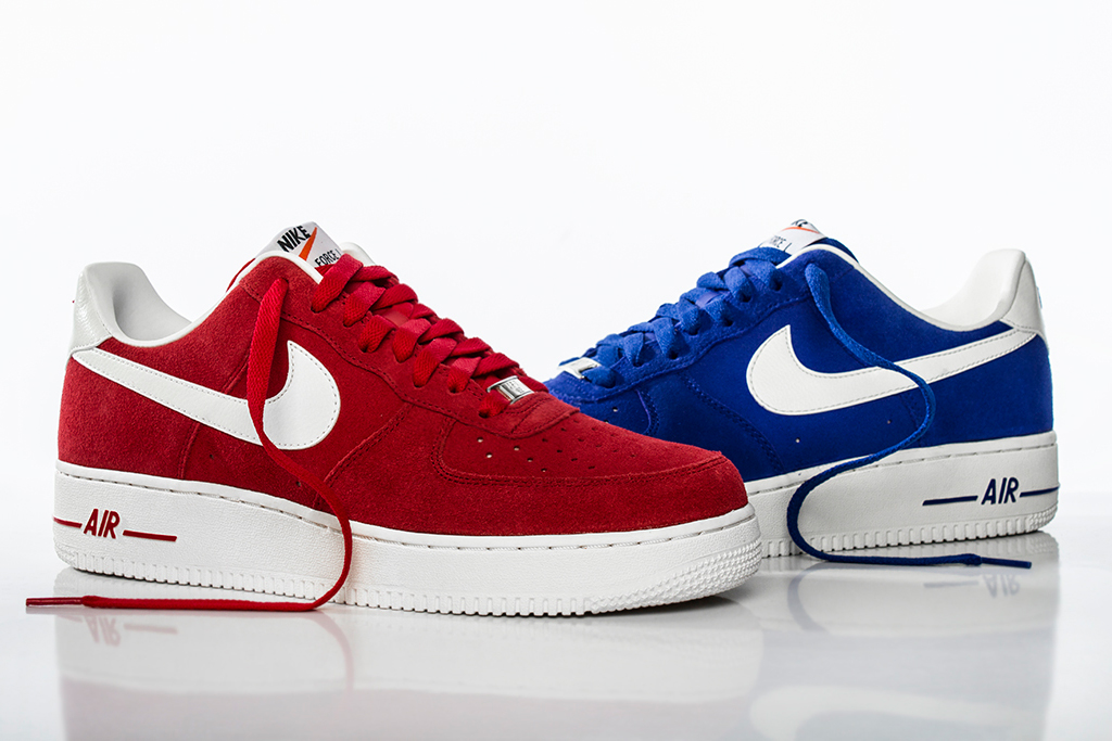 Image of Nike Air Force 1 Hyper Blue and University Red