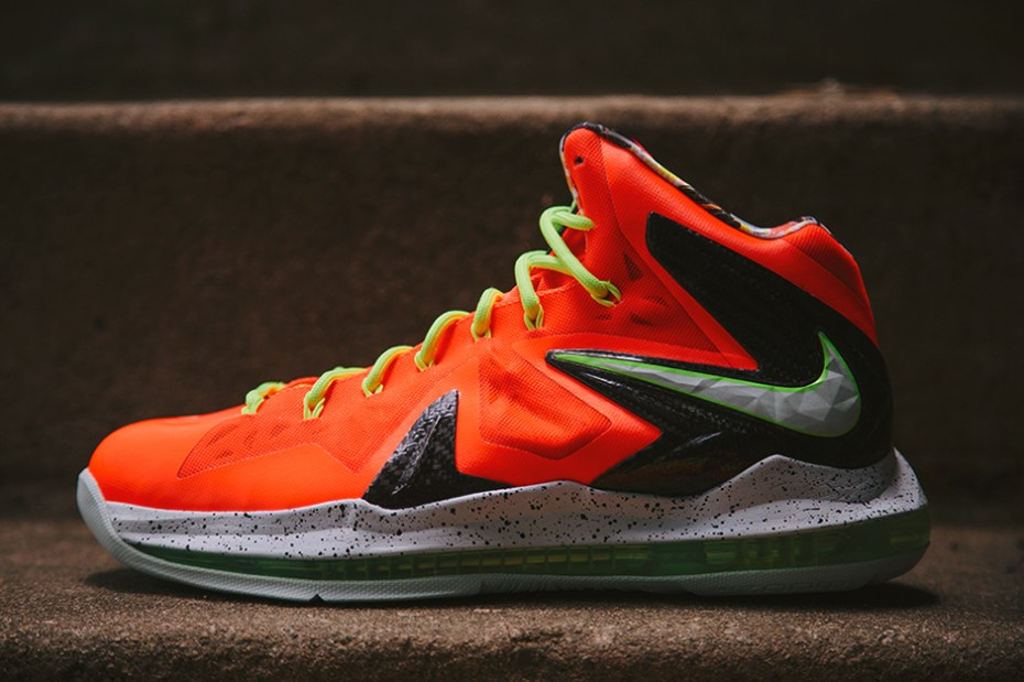 Image of Nike LeBron X P.S. Elite Total Crimson/Fiberglass-Black-Volt