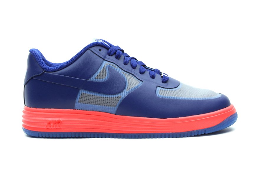 Image of Nike Lunar Force 1 Fuse Wolf Grey/Deep Royal Blue