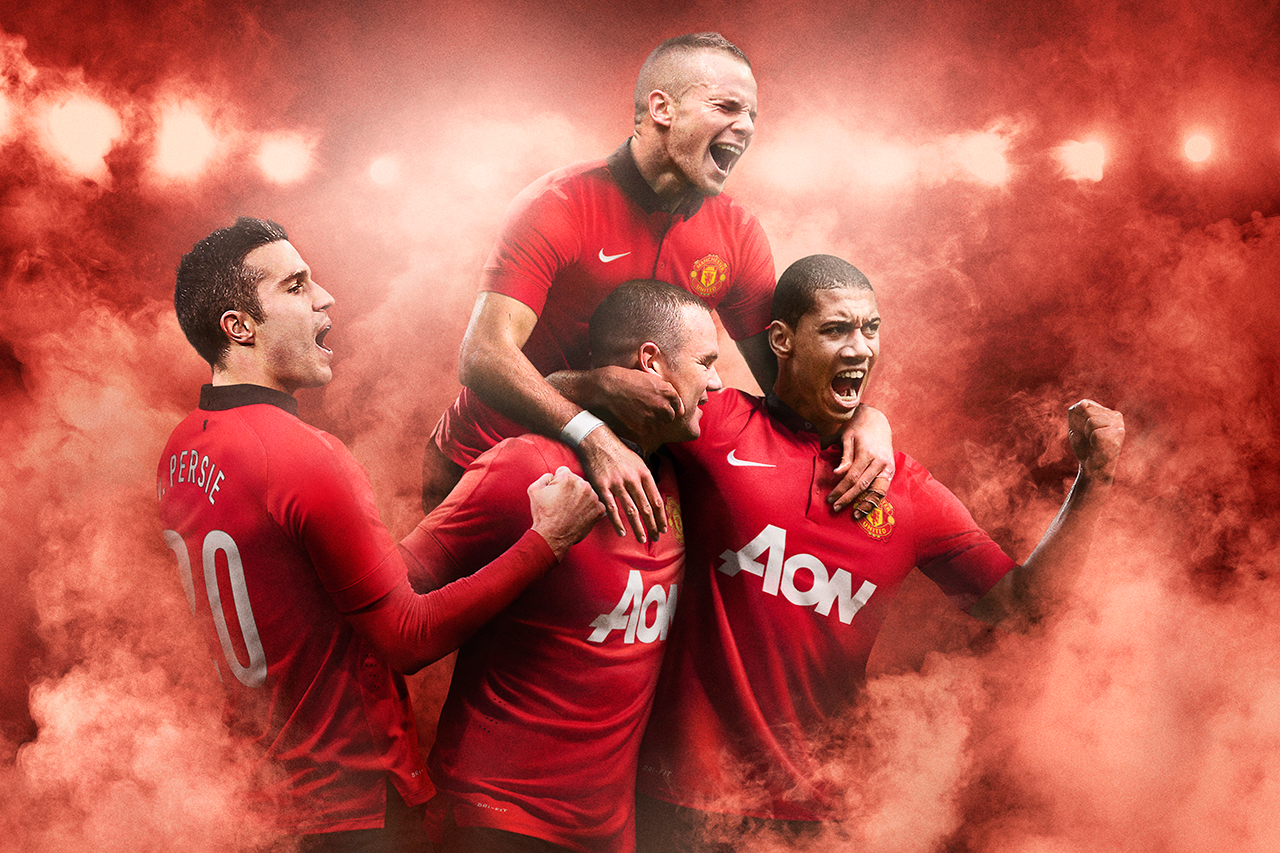 Image of Nike Unveils Manchester United's 2013-2014 Home Kit