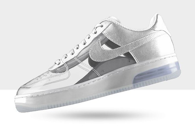 Image of NIKEiD Air Force 1 Invisible and Sparkle Patent Options Now Available