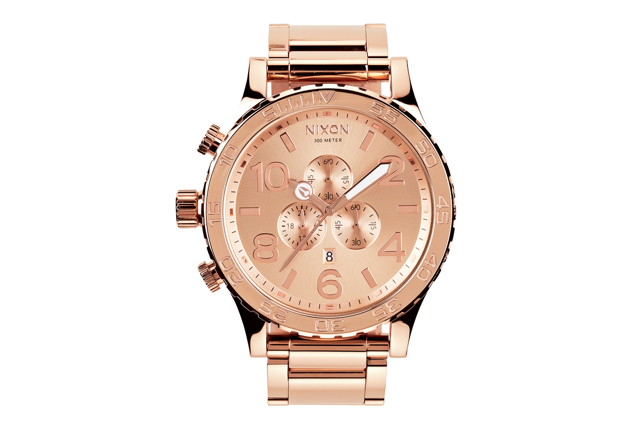 Image of Nixon 51-30 All Rose Gold Chrono Watch