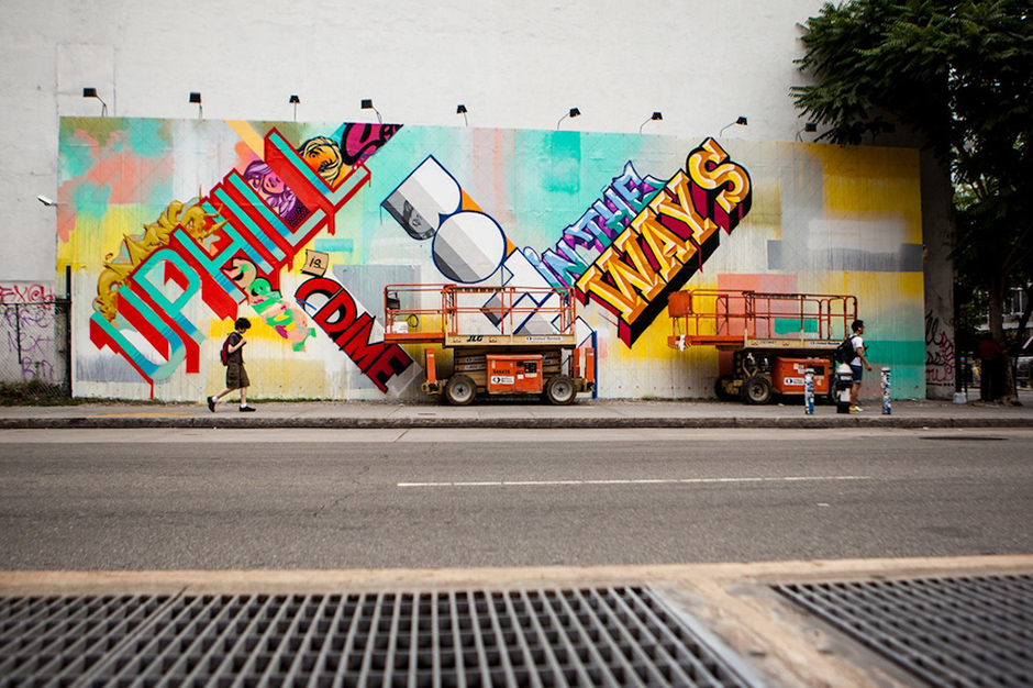 Image of REVOK and POSE Paint Bowery Wall