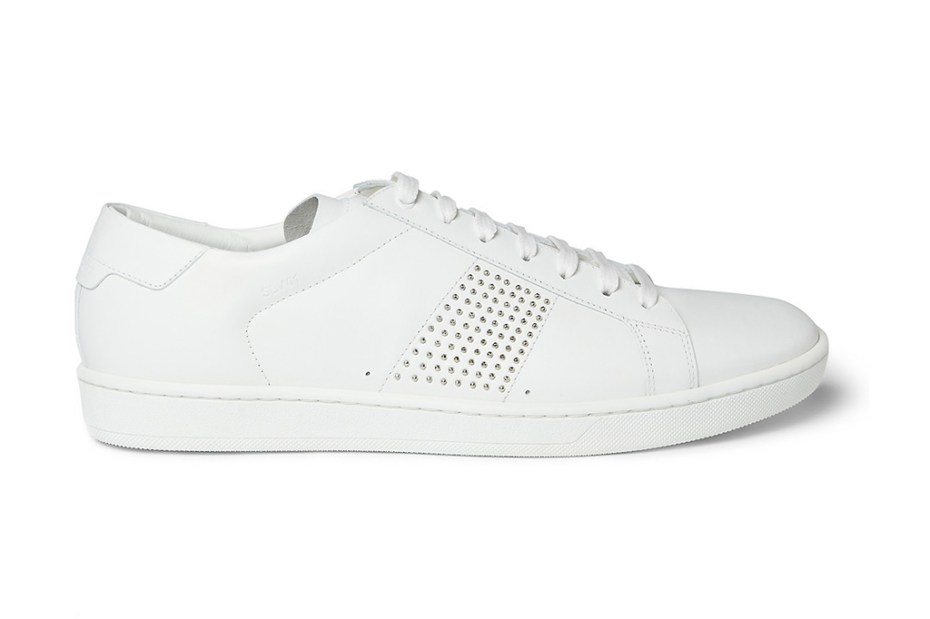 Image of Saint Laurent SL01 Studded Leather Sneakers