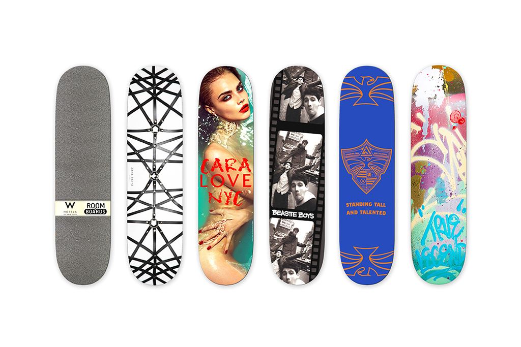Image of W Hotels Skateboard Deck Collection by Ray Mendez