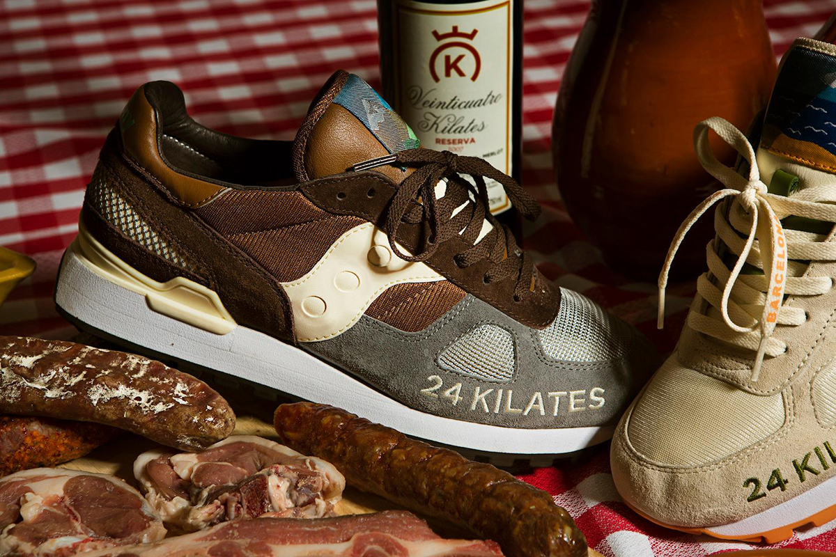 """Image of 24 Kilates x Saucony Shadow Original """"Mar y Montaña"""" Pack"""