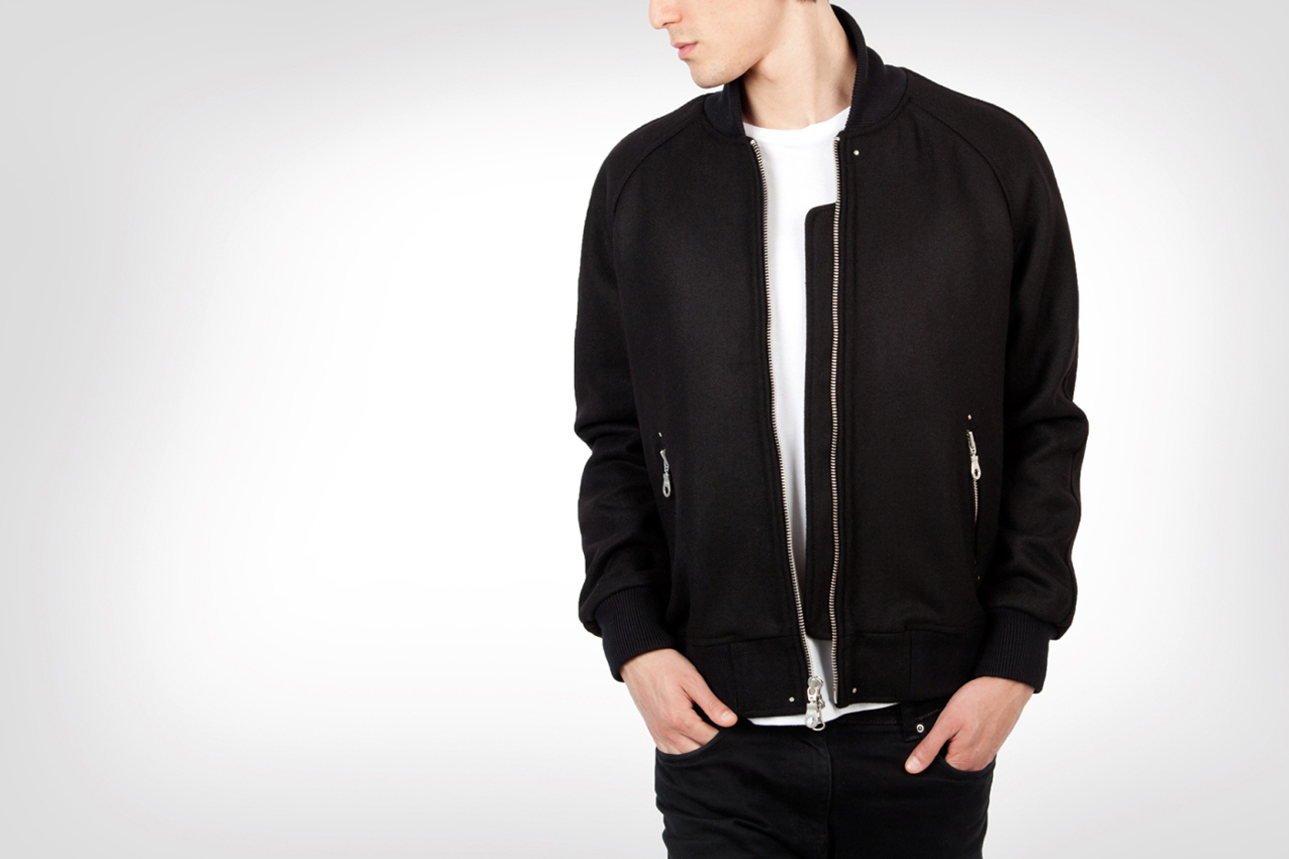 Image of MKI Black 2013 Full Wool Varsity Jackets
