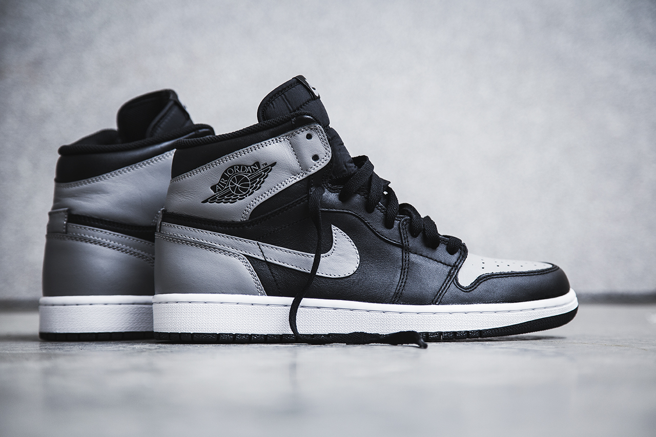 "Image of Air Jordan 1 Retro High OG - Black/Soft Grey ""Shadow"""