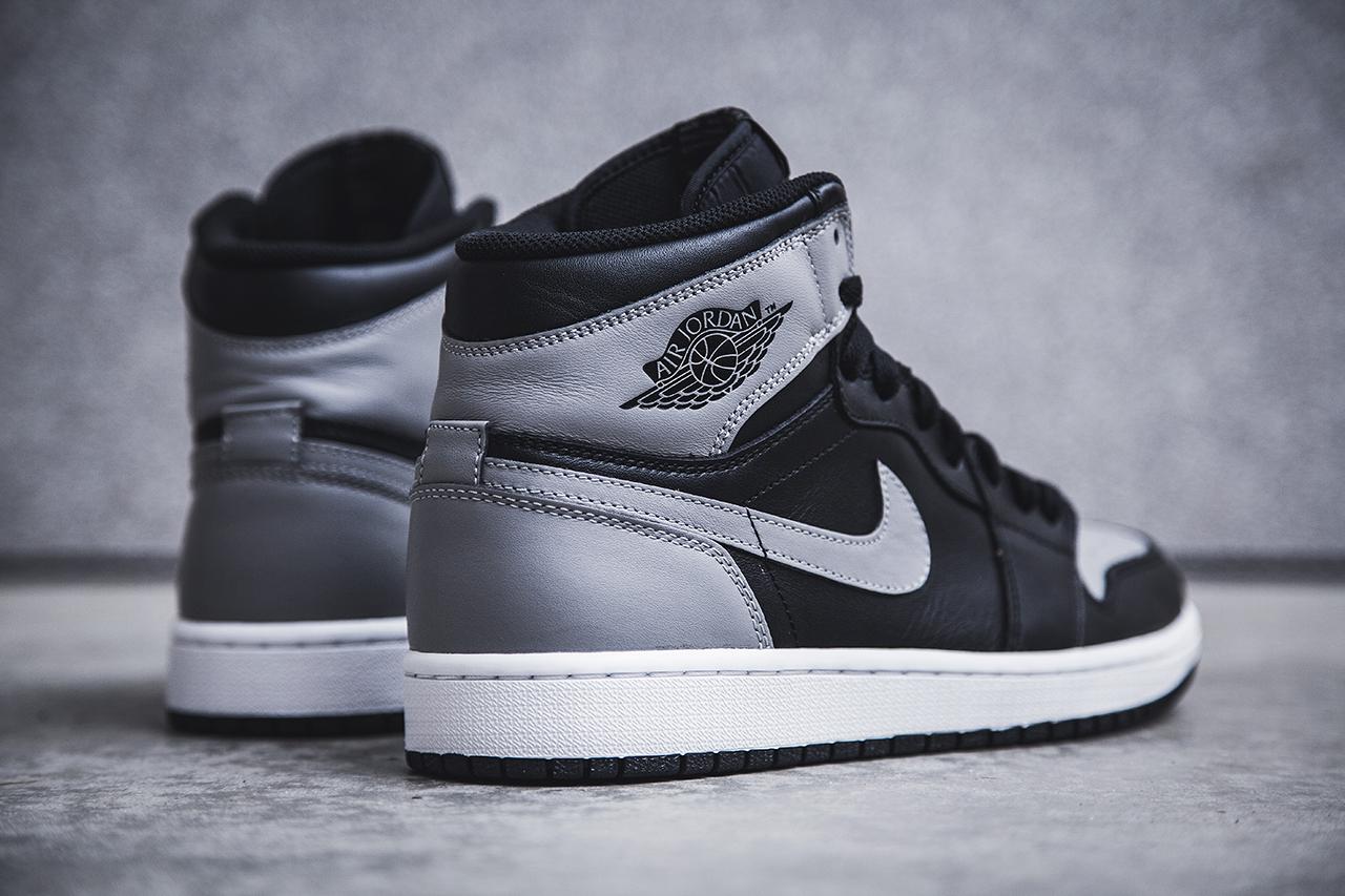 "Image of Air Jordan 1 Retro High OG - Black/Soft Grey ""Shadow"""