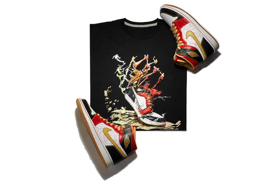 "Image of Air Jordan 1 Retro High OG XQ ""Ignite Shanghai"" T-Shirt"
