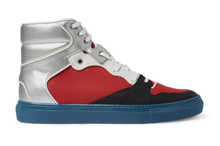 Image of Balenciaga Panelled High Top Sneaker