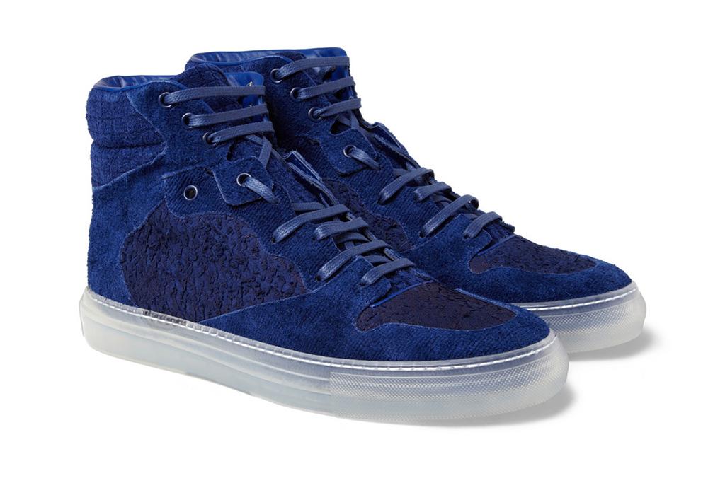 Image of Balenciaga Suede High Top Sneakers