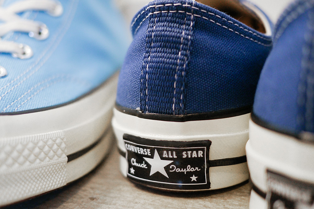 "Image of Converse First String 1970s Chuck Taylor ""Heritage Blue"" & ""True Navy"""