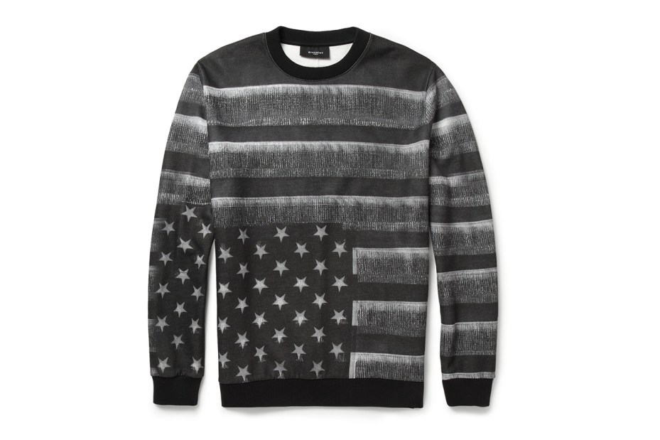 Image of Givenchy Flag-Print Fleece-Back Jersey Sweatshirt